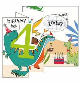 Caroline Gardner Card- 4 Today Brithday Boy (Dinosaur)
