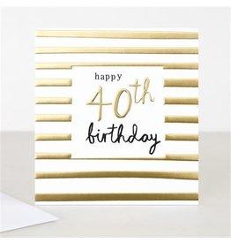 Caroline Gardner Card-Age, Happy Birthday 40