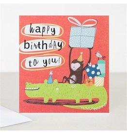 Caroline Gardner Card,Happy Birthday Crocodile