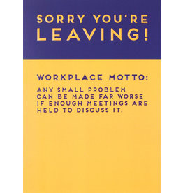 Paperlink Card- Sorry You are Leaving