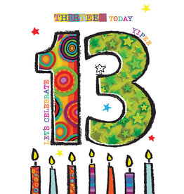 Card-Birthday 13 Today