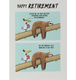 Paperlink Card-Happy Retirement Sloth