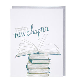 Smudge Ink Card Graduation-New Chapter
