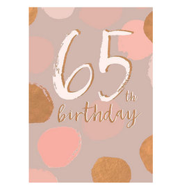 Hammond & Gower Card- 65th Birthday