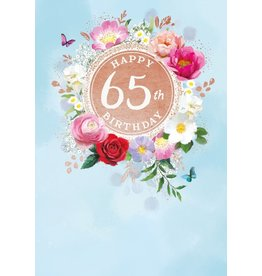 Abacas Card-Happy 65th Birthday