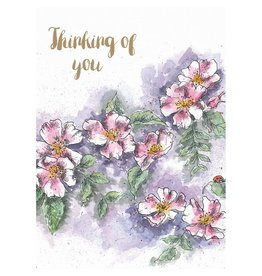 WRENDALE Card-Thinking of You Dog Rose