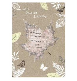 Hammond & Gower Card- Leaf Sympathy