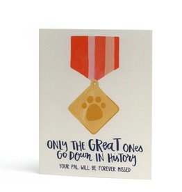One Canoe Card-Pet Sympathy-Great Ones