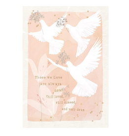Hammond & Gower Card Sympathy Doves