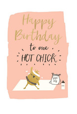 Hammond & Gower Card- Birthday Hot Chick