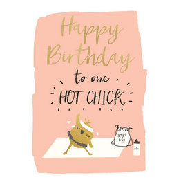 Hammond & Gower Card- Birthday Hot Chick