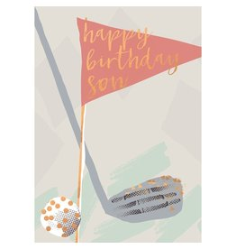 Hammond & Gower Golf Happy Birthday Son Card