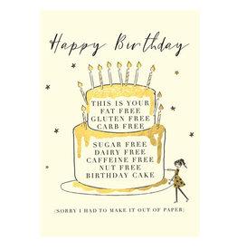 Hammond & Gower Card- Birthday Cake