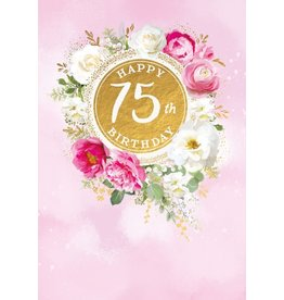 Abacas Card-Happy 75th Birthday