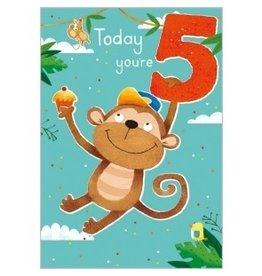 Abacus Card Ltd. Card- 5th Birthday Monkey