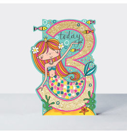 Rachel Ellen Designs Card-Mermaid Three Today
