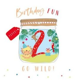 Belly Button Designs Card- Go Wild Lion 2nd Bday