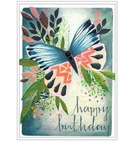 Cinnamon Aitch Card-Happy Birthday Butterfly