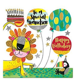 Rachel Ellen Designs Card-Grandson Lion
