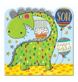 Rachel Ellen Designs Card-Son Dinosaur