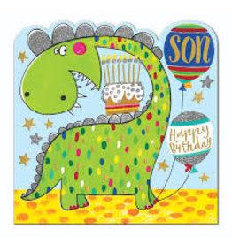 Rachel Ellen Designs Card-Son Dinosaur