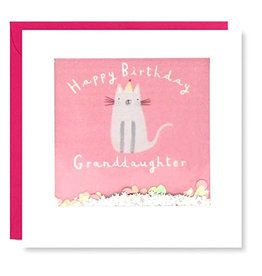 James Ellis Card-HB Granddaughter Pink Cat