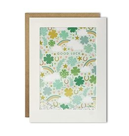 James Ellis Good Luck Clover Leaf Card
