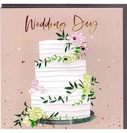 Belly Button Designs Card-Wedding Day Cake