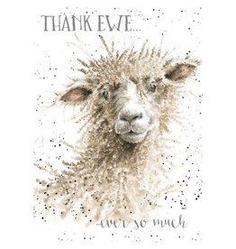 WRENDALE Card-Thank Ewe