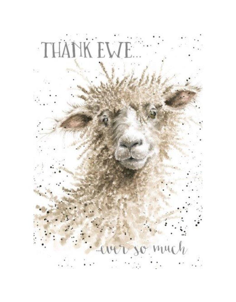 WRENDALE Thank Ewe Card