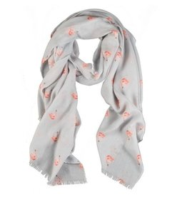 WRENDALE Pink Lady Flamingo Scarf by Wrendale
