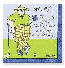 Design Design Napkins-Golf, Drinking And Driving