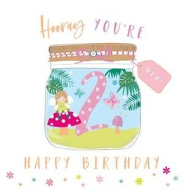 Belly Button Designs Card- Hooray Fairy 2nd Bday