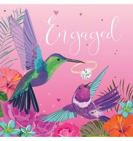Belly Button Designs Card-Hummingbirds-Engaged