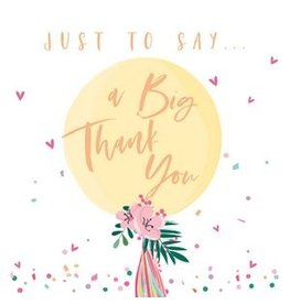Belly Button Designs A Big Thank You Card