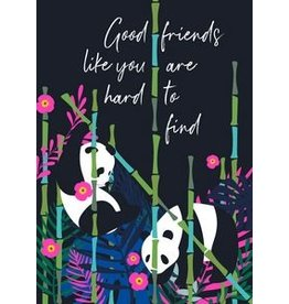 Belly Button Designs Panda Friendship Card