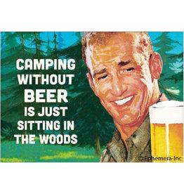 Ephemera Magnet-Camping Without Beer