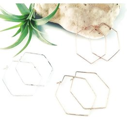 Cristy's Hexagon Hoop (More Colours & Sizes)