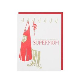 Smudge Ink Card Mother's Day-Supermom