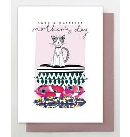 Stop The Clock Design Card-Have a Purrfect Mother's Day