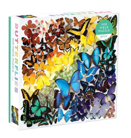 Galison Puzzle- Rainbow Butterflies