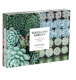 Galison Puzzle- Succulent Garden (Double Sided)