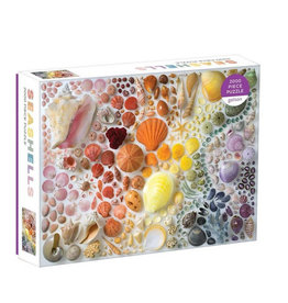Galison Puzzle- Rainbow Seashells
