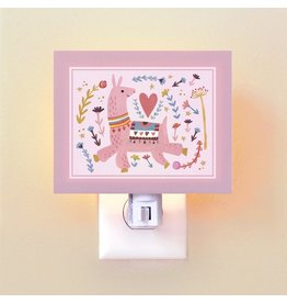 Oopsy Daisy Night Lights Pink Llama