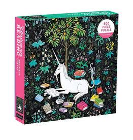 Galison Puzzle- Unicorn Reading