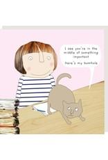 Rosie Made a Thing Card- Cat Bum
