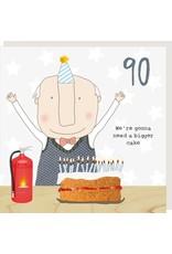 Rosie Made a Thing Card- Boy 90 Cake