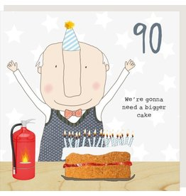 Rosie Made a Thing Card- Boy 90 Cake