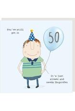 Rosie Made a Thing Card- Boy 50 Ibuprofen
