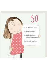 Rosie Made a Thing Card- Girl 50 Bucket List